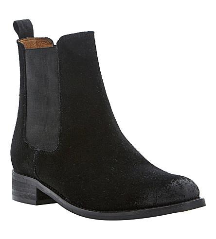 BERTIE Suede Chelsea boots (Black-suede