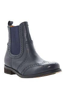 BERTIE Leather brogue Chelsea boots