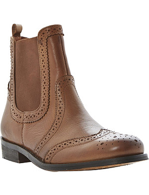 BERTIE Leather brogue Chelsea boots