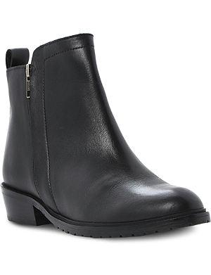 BERTIE Plott double zip leather ankle boots