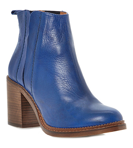 BERTIE Pathena leather ankle boots (Blue-leather