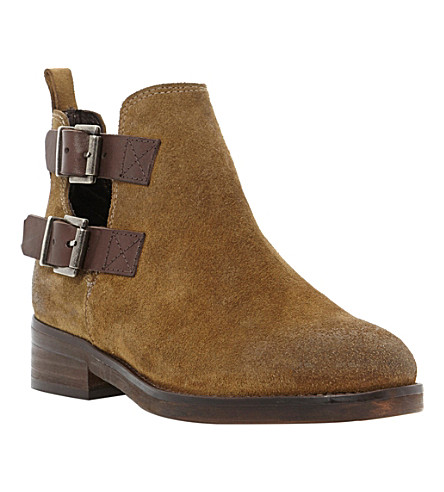 BERTIE Ploy suede ankle boots (Khaki-suede