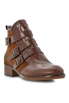 BERTIE Podd triple buckle ankle boots