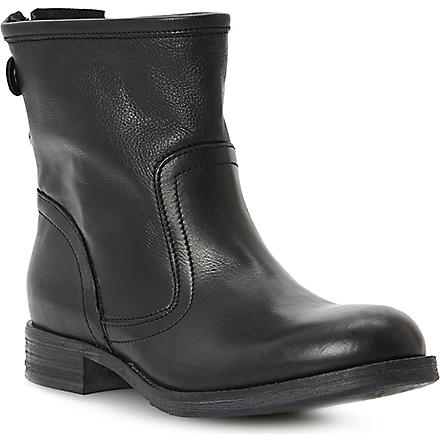 BERTIE Pyrena zip-back leather boots (Black-leather