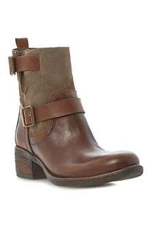 BERTIE Portos double buckle boots
