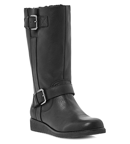 DUNE Rits leather calf boots (Black-leather