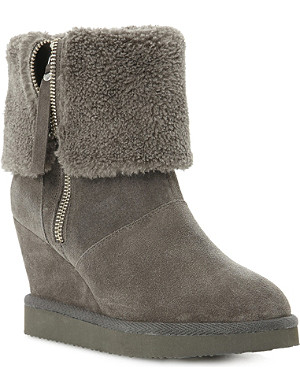 DUNE Reach suede ankle boots