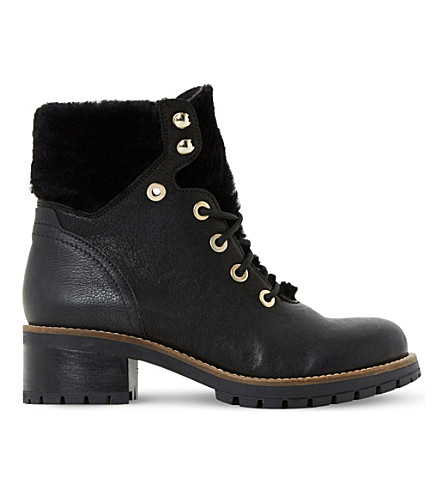 DUNE Rochelle leather ankle boots (Black-leather mix