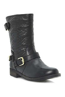 DUNE Rottie leather biker boots