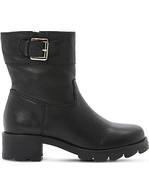 DUNE Reem leather biker boots