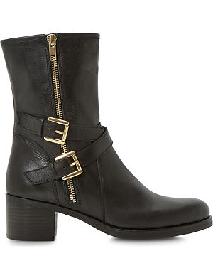 DUNE Rachelle leather biker boots