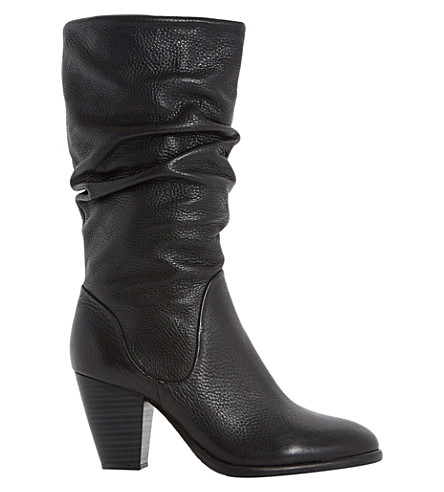 DUNE Rossy leather calf boots (Black-leather