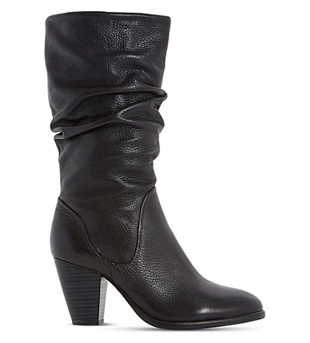 DUNE Rossy leather calf boots (Black