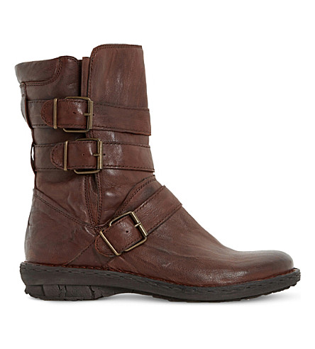 DUNE Rania leather biker boots