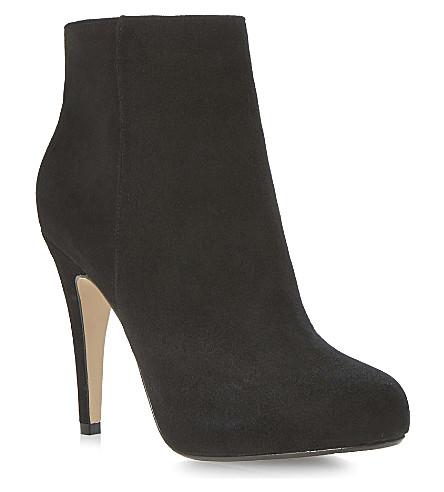DUNE Roxie heeled platform ankle boots (Black-suede