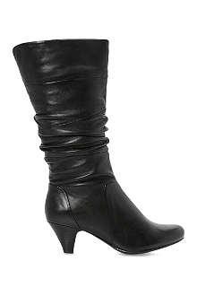 DUNE Reta rouched calf boots