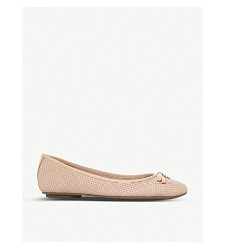 DUNE Harps leather ballet pumps (Nude-leather