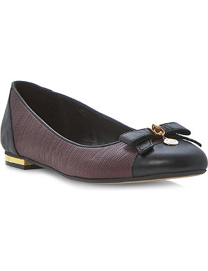 DUNE Montee bow-detail ballerina pumps
