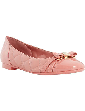 DUNE Herminey quilted leather ballerina flats