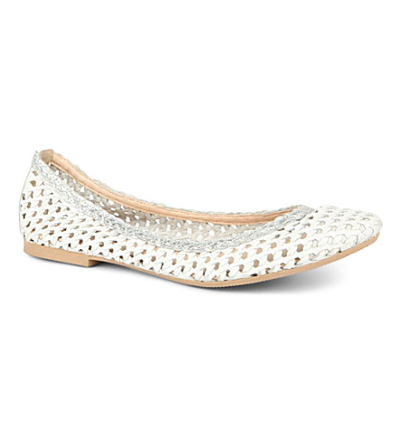 DUNE Malawi woven leather pumps (Off white-leather