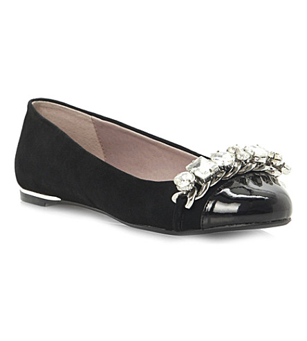 DUNE Mingle rhinestone-embellished pumps (Black-suede