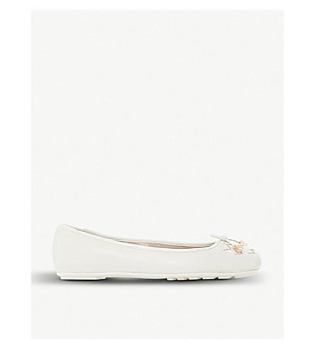DUNE Harland ballerina patent Harland DUNE leather pump White Bxwn5qF1