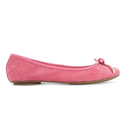DUNE Hype suede ballet pumps (Pink-suede