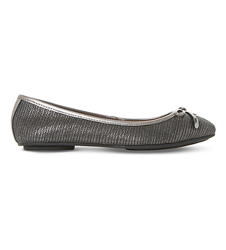 DUNE Hype ballerina shoes (Pewter-leather