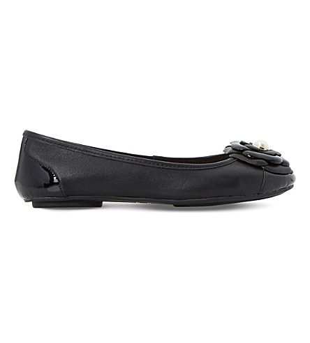DUNE Hyacinth leather ballet flats (Black-leather