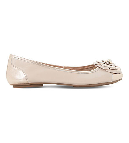 DUNE Hyacinth leather ballerinas (Blush-leather