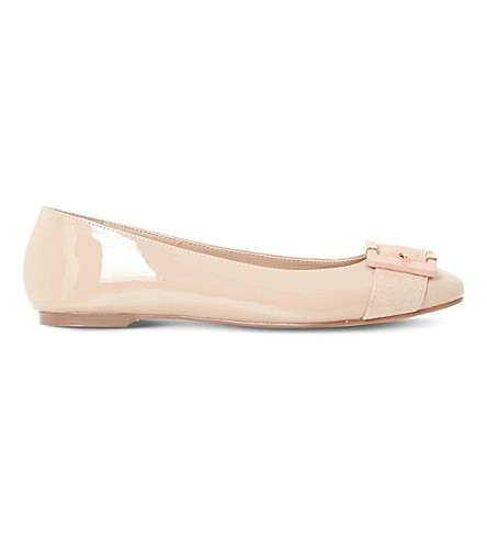 DUNE Heston patent ballet flats (Nude-patent