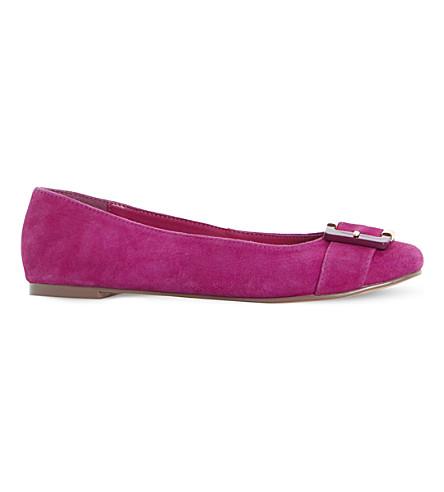 DUNE Heston suede ballerina flats (Pink-suede