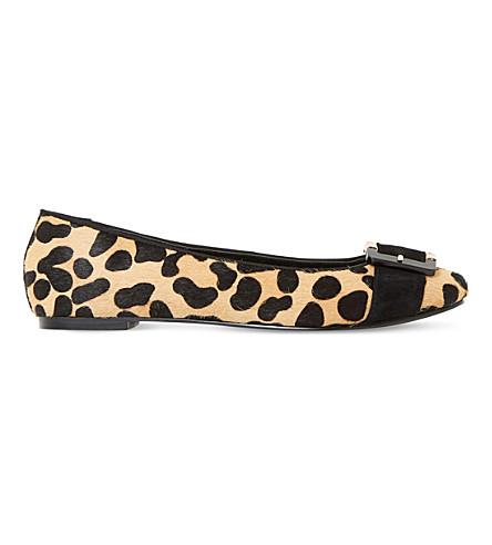 DUNE Heston leopard-print ballet flats (Leopard-pony