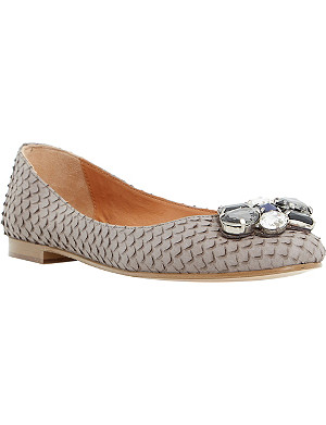DUNE Hubble jewel-embellished ballerina pumps