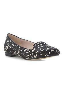 DUNE Limbo ponyskin slipper loafers