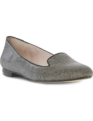 DUNE Limbo metallic slippers