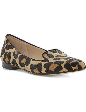 DUNE Limbo ponyskin slippers