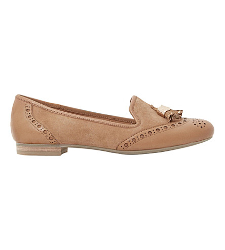 DUNE Loki tassel leather loafers (Tan-suede