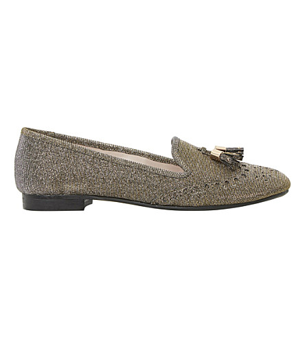 DUNE Loki tassel loafers (Gold-lurex