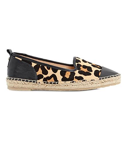 DUNE Golled slipper cut espadrilles (Leopard-pony