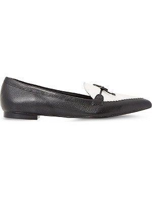 DUNE Georgette leather pointed-toe loafers