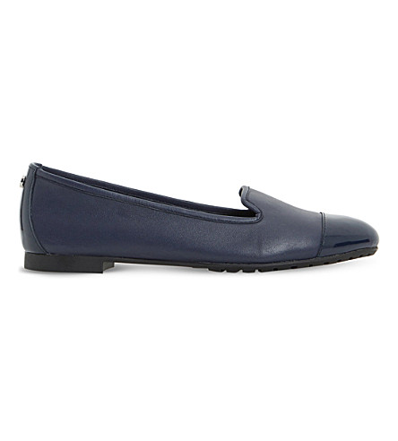 DUNE Geneveve leather pumps (Navy-leather