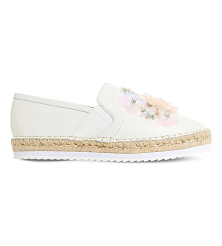 DUNE Glorious sequin embellished espadrilles (White