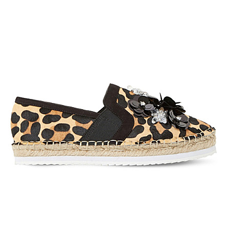 DUNE Glorious sequin embellished espadrilles (Leopard-pony
