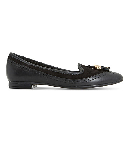 DUNE Gambel leather shoes (Black-leather