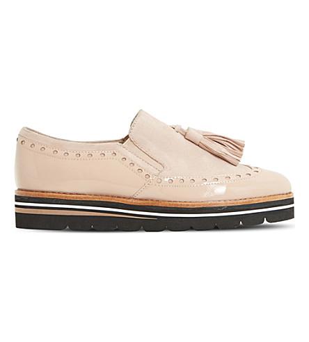 DUNE Glorya suede tassel loafers (Nude-suede