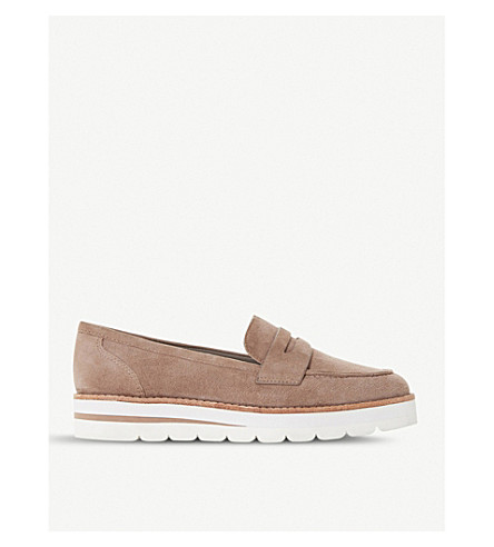 DUNE Gabryel suede penny loafer (Taupe-suede