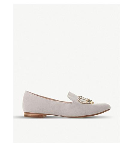 DUNE Giorgette 刺绣蜂和冠乐福鞋 (灰色