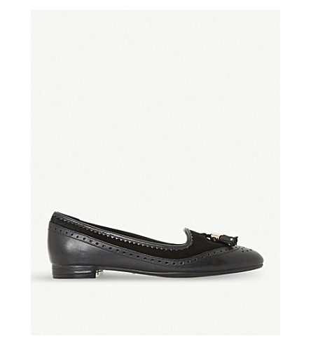 DUNE Gambie brogue-detail leather loafers (Black-leather