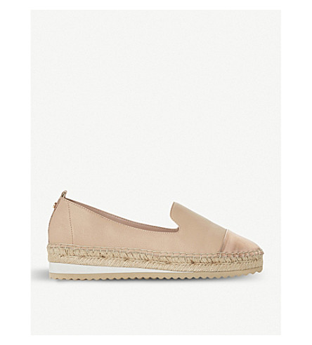 DUNE Gavi metallic-detail espadrilles (Blush-leather